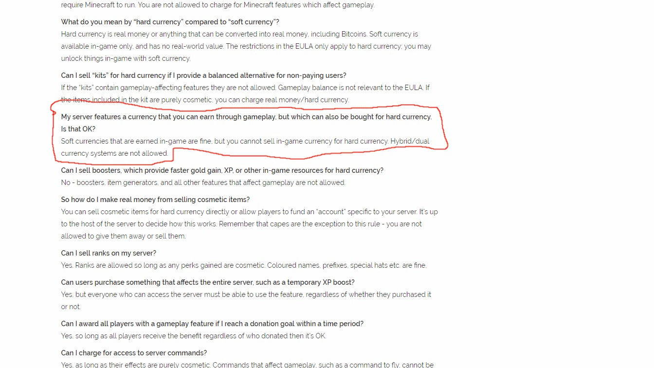 Regarding the EULA Changes (1/2) | Brawl Games - Minecraft