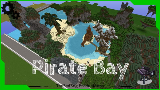 "Minecraft ""Pirate Bay"" timelapse - World Edit terrain"