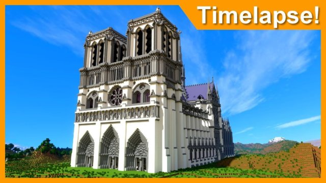 Notre-Dame de Paris - Minecraft Recreation Timelapse