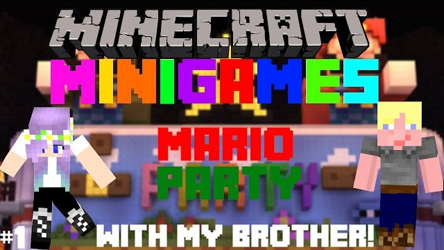 Minecraft Minigames: Mario Party with my Brother!